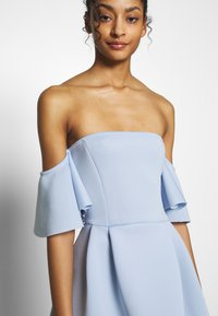 Missguided - BARDOT HIGH LOW MIDI DRESS - Vestido de cóctel - powder blue - 4