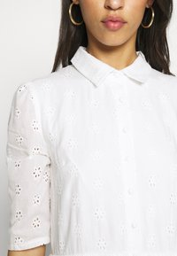 Missguided - SMOCK SHIRT MIDI DRESS - Skjortekjole - white - 5
