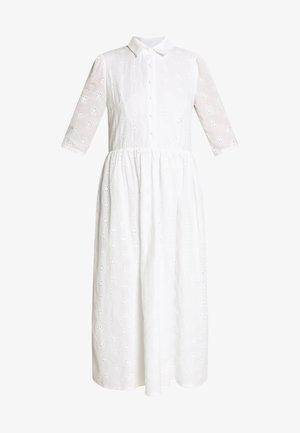SMOCK SHIRT MIDI DRESS - Skjortekjole - white