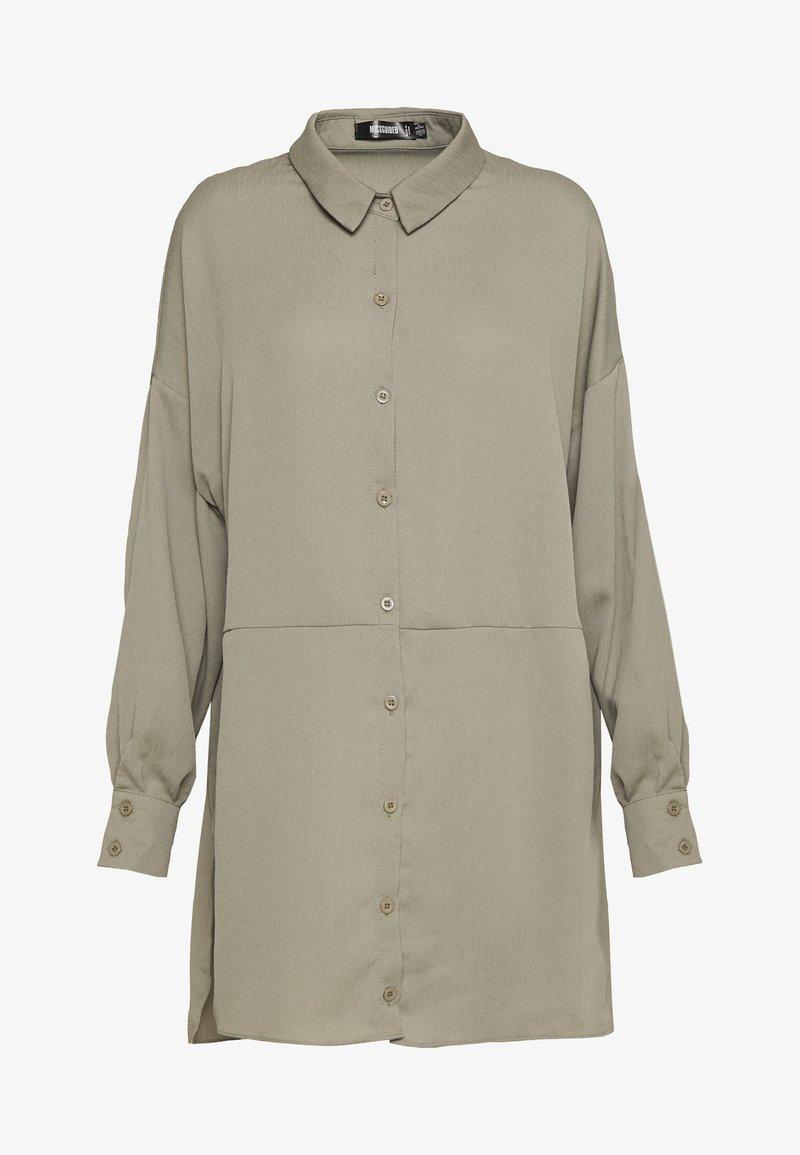 Missguided - TEXTURED UTILITY SHIRT DRESS - Korte jurk - sage green