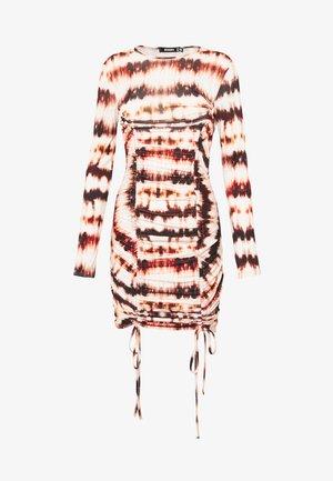 CODE CREATE RUCHED MINI DRESS - Jerseyjurk - rust