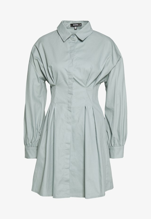 PLEATED WAIST DRESS - Shirt dress - sage
