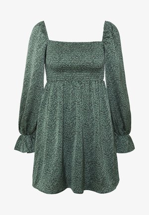 MILKMAID SHIRRED MIDI DRESS - Korte jurk - deep green