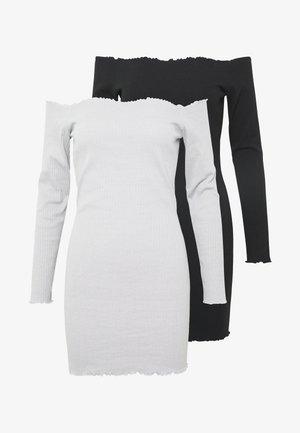 LETTUCE MINI DRESS 2 PACK  - Denní šaty - grey/black