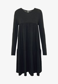 Missguided - TIERED SMOCK DRESS - Robe en jersey - black - 3