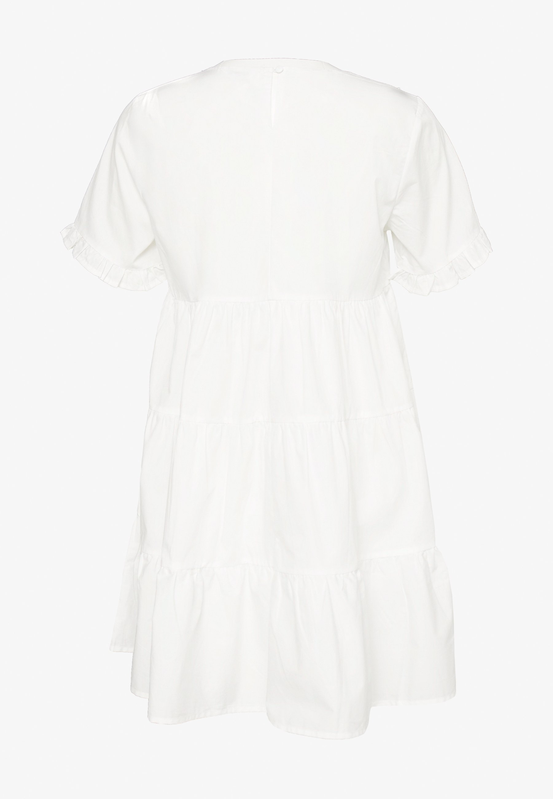 Missguided Poplin Crochet Smock Dress - Vestito Elegante White pf2re