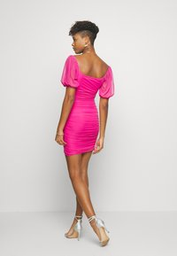 Missguided - SQUARE NECK PUFF SLEEVE MINI DRESS - Day dress - pink - 2