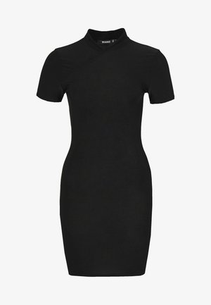 SLINKY HIGH NECK BODYCON DRESS - Vestito estivo - black