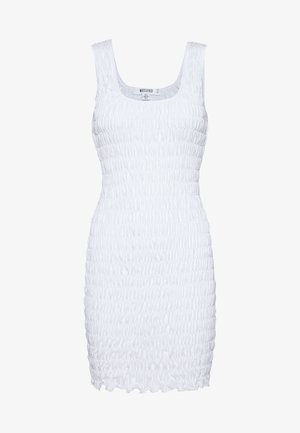 FESTIVAL EXCLUSIVE SHIRRED BODYCON MINI DRESS - Etuikjole - white