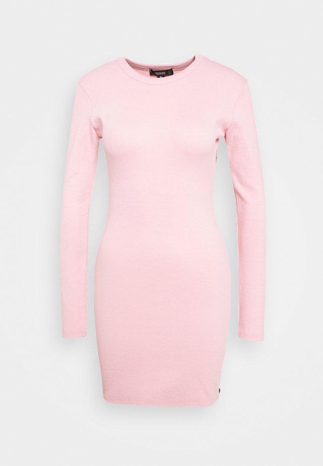 SIDE ZIP MINI DRESS - Etui-jurk - pink