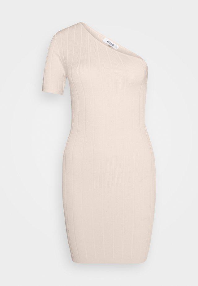 ONE SHOULDER MINI DRESS - Jumper dress - sand