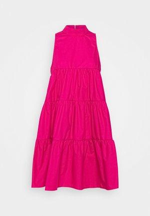 POPLIN SLEEVELESS TIERED SMOCK DRESS - Denní šaty - pink
