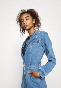 Missguided - BLAZER FIT DRESS  - Manteau court - mid blue - 3