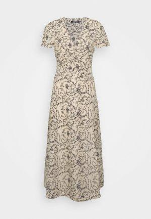 HALF BUTTON MIDI TEA DRESS - Długa sukienka - stone