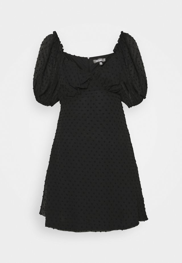 MILKMAID SKATER DRESS DOBBY - Sukienka letnia - black