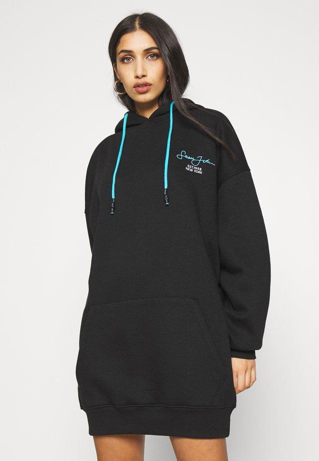 SJXMG OVERSIZED BALLOON SLEEVE HOODY DRESS - Korte jurk - black