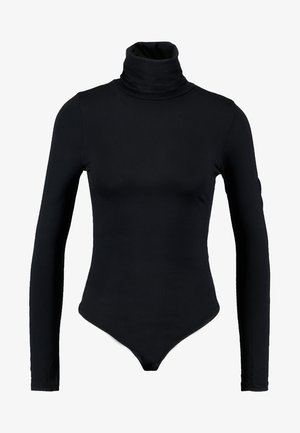 FUNNEL NECK BODY SUIT - Longsleeve - black