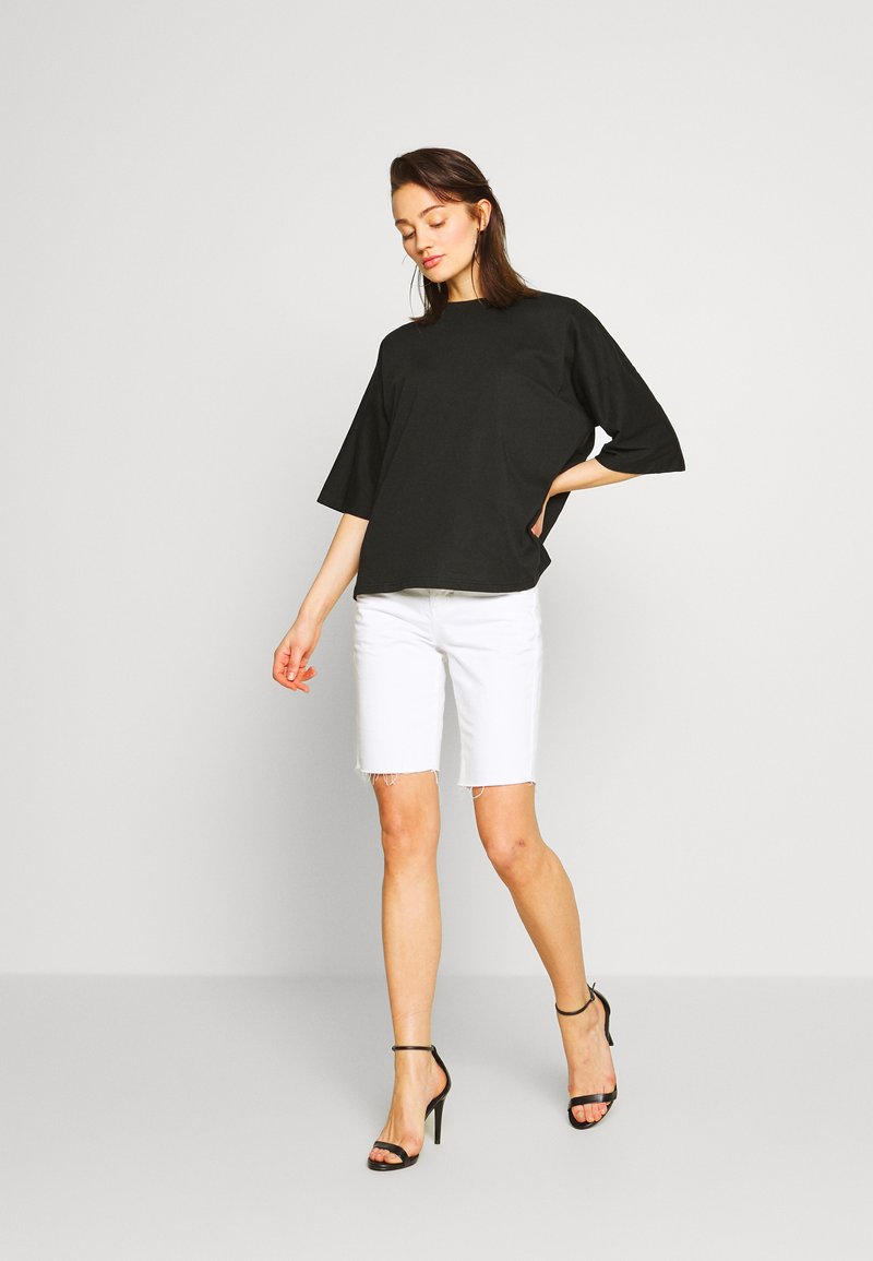 Missguided - DROP SHOULDER OVERSIZED 2 PACK - T-shirts - white/black