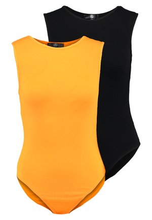 SLEEVELESS BODYSUIT 2 PACK - Top - orange/black