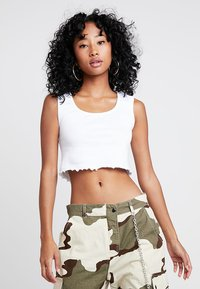 Missguided - SLEEVELESS LETTUCE CROP 2 PACK - Top - black/white - 4