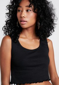 Missguided - SLEEVELESS LETTUCE CROP 2 PACK - Top - black/white - 5