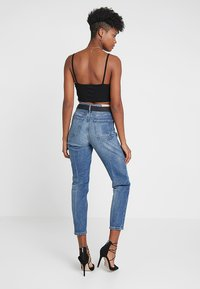Missguided - BUTTON DOWN CROP CAMI 2 PACK - Top - grey/black - 2