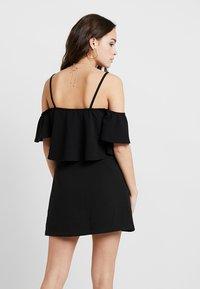 Missguided - BARDOT DOUBLE LAYER BODYSUIT - T-shirt print - black - 2