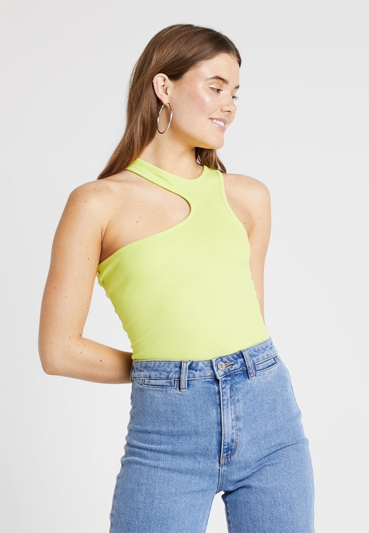 Missguided - ASYMMETRIC CUTOUT - Top - lime