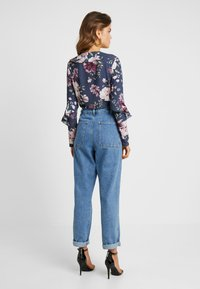 Missguided - WRAP FRONT FRILL BODYSUIT - Blouse - navy - 2