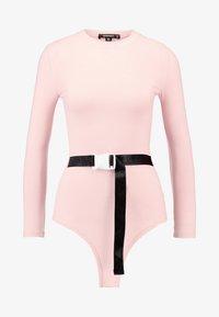 Missguided - LONG SLEEVED SEATBELT BODYSUIT - T-shirt à manches longues - pink - 3