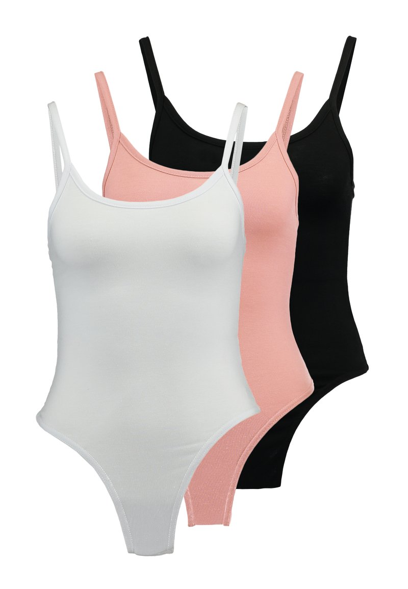 Missguided - CAMI BODYSUIT 3 PACK - Top - pink/black/white