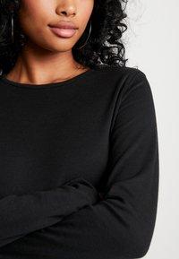 Missguided - LONG SLEEVE CREW NECK BODYSUIT 2 PACK - T-shirt à manches longues - black - 4