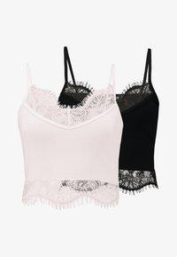 Missguided - TRIM BRALET 2 PACK - Linne - black/rose pink - 4