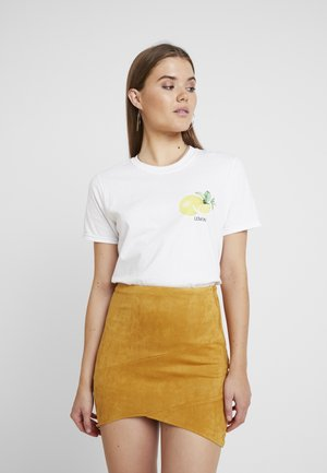 LEMON POCKET GRAPHIC - Print T-shirt - white