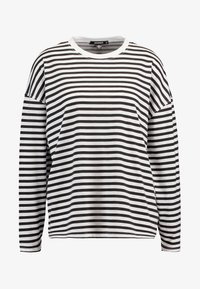 Missguided - STRIPE DROP SHOULDER LONG SLEEVE - T-shirt à manches longues - white/black - 3