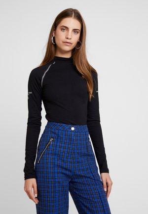 HIGH NECK BODYSUIT - Maglietta a manica lunga - black