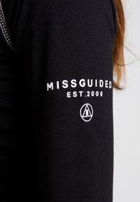 Missguided - HIGH NECK BODYSUIT - Top sdlouhým rukávem - black - 5
