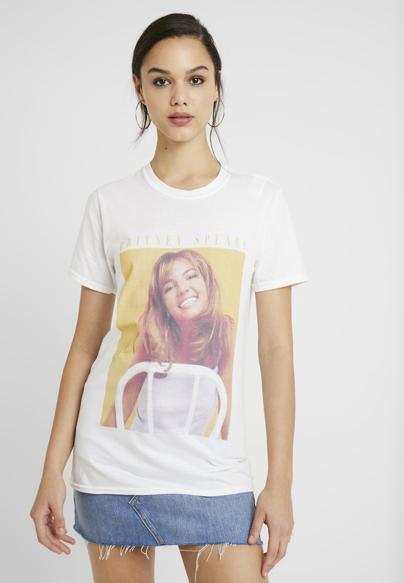 Missguided - BRITNEY SPEARS GRAPHIC - T-Shirt print - white
