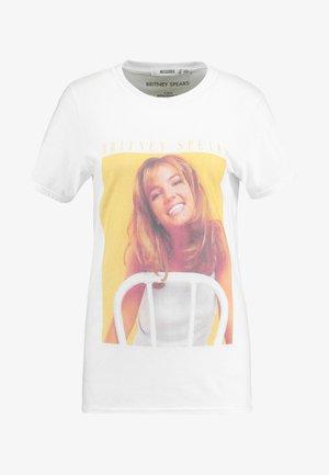 BRITNEY SPEARS GRAPHIC - T-shirt imprimé - white