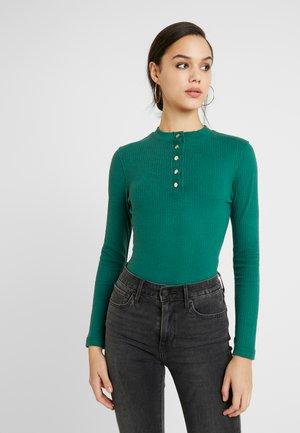 POPPER HIGH NECK BODYSUIT - Longsleeve - green