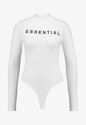 ESSENTIALS HIGH NECK - Longsleeve - white black