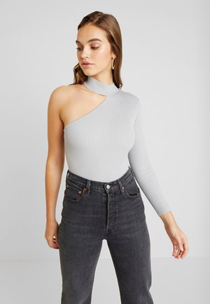 ONE SHOULDER - Strickpullover - grey