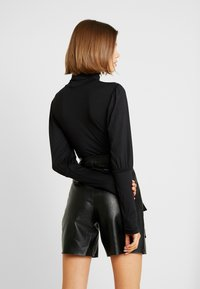 Missguided - TURTLE NECK PUFF SLEEVED BODYSUIT - Longsleeve - black - 2