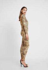 Missguided - HALLOWEEN LEOPARD PRINT SCOOP BACK - Jumpsuit - brown - 3