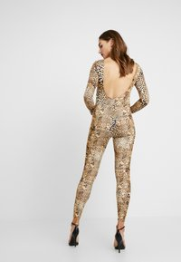 Missguided - HALLOWEEN LEOPARD PRINT SCOOP BACK - Jumpsuit - brown - 2