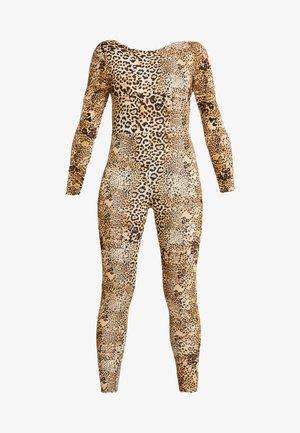 HALLOWEEN LEOPARD PRINT SCOOP BACK - Jumpsuit - brown