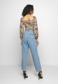 Missguided - DITSY FLORAL MILKMAID BODYSUIT - Body - green - 2