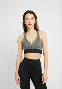 Missguided - ACTIVE CROSS FRONT SPORTS BRA SET - Top - black - 0