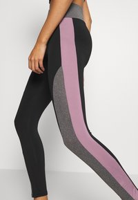 Missguided - ZIP FRONT CROP AND LIME INSERT PANEL SET - Leggings - Trousers - grey - 4
