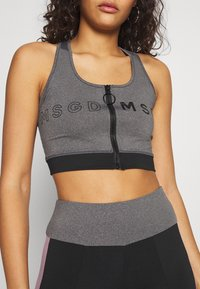 Missguided - ZIP FRONT CROP AND LIME INSERT PANEL SET - Leggings - Trousers - grey - 6